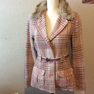Plaid Wool Hollister Jacket